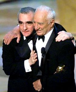 Elia Kazan receiving the lifetime achievement award.